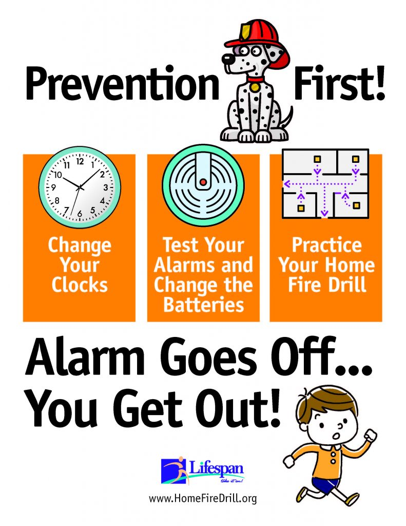Change your clocks, test your alarms, practice your home fire drill